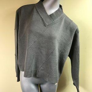 Ivan Ghrundal Cropped V Neck Sweater Cape C